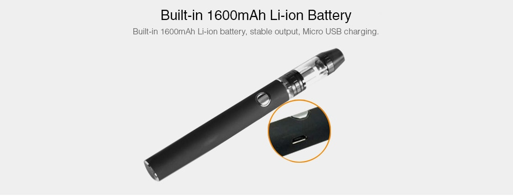 30W Mod Kit with Built-in 1600mAh Li-ion Battery - Black