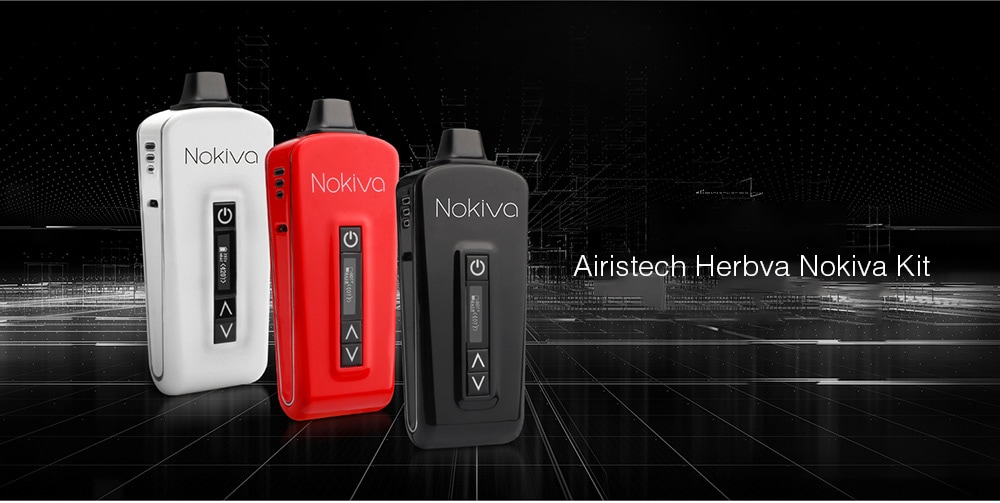 Airistech Herbva Nokiva Kit with Built-in 2200mAh Li-ion Battery for E Cigarette- White