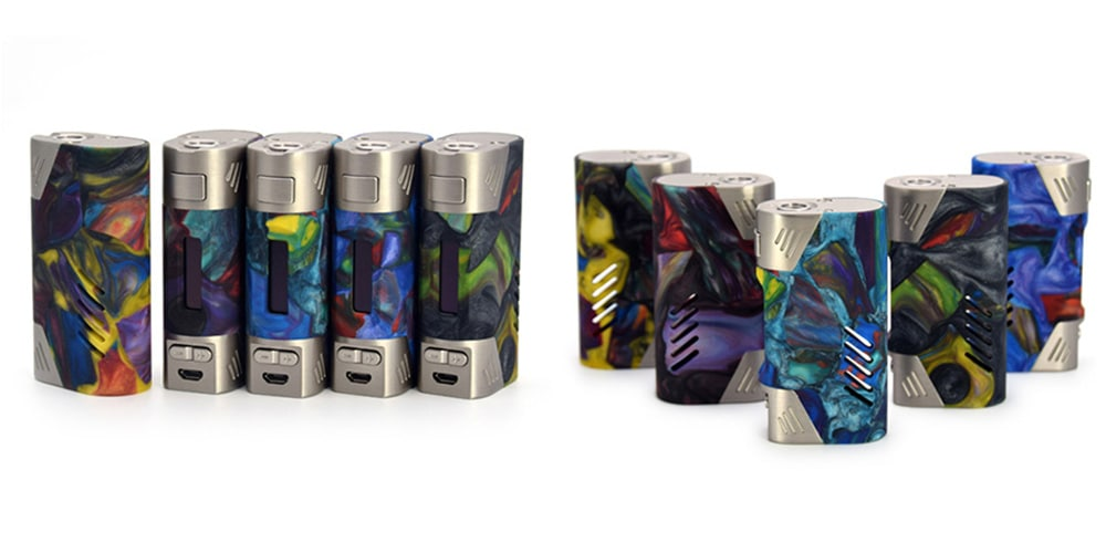 Aleader Orbit 80W Mod with 200 - 600F / 0.1 - 3 ohm / Supporting 1pc 18650 Battery for E Cigarette 1PC- Colormix