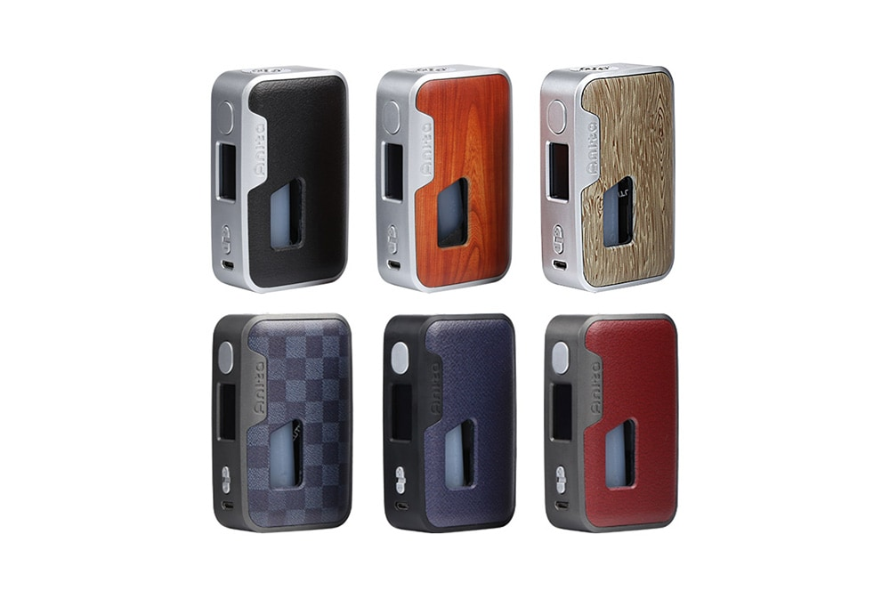 Arctic Dolphin Anita 100W Squonk TC Mod with 200 - 600F / Supporting 1PC 18650 / 21700 / 20700 Battery for E Cigarette- Plum Purple