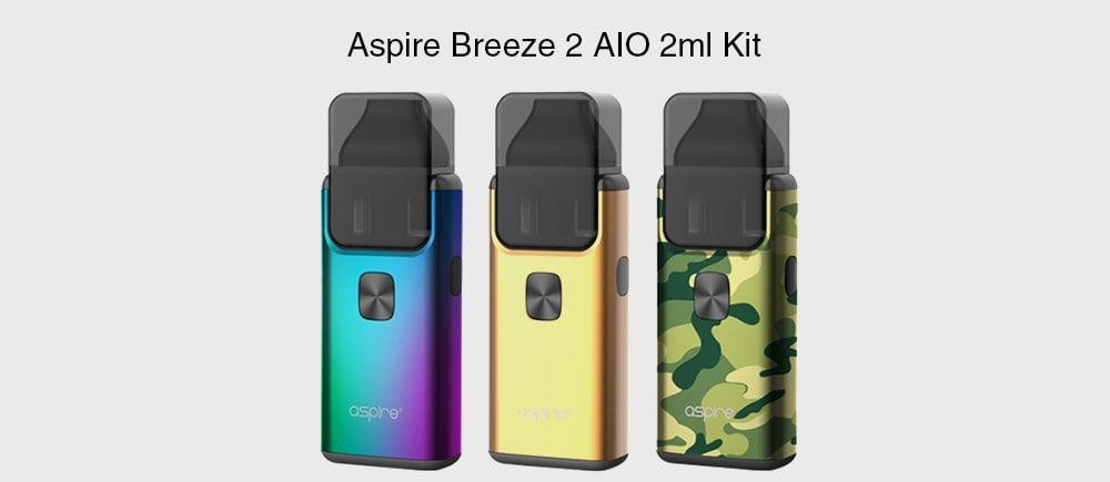 Aspire Breeze 2 AIO 2ml Kit with Built-in 1000mAh Li-ion Battery for E Cigarette- Green Peas