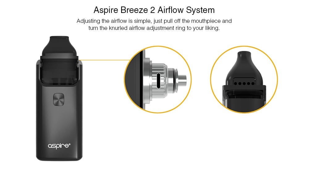 Aspire Breeze 2 AIO Kit with Built-in 1000mAh Li-ion Battery- Grapefruit