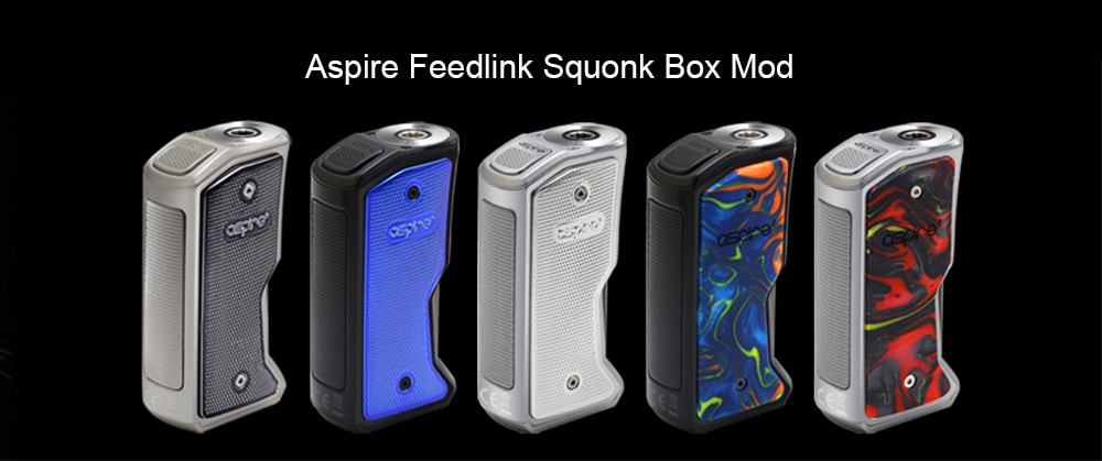 Aspire Feedlink Squonk Box Mod Supporting 1pc 18650 Battery for E Cigarette- Blueberry Blue