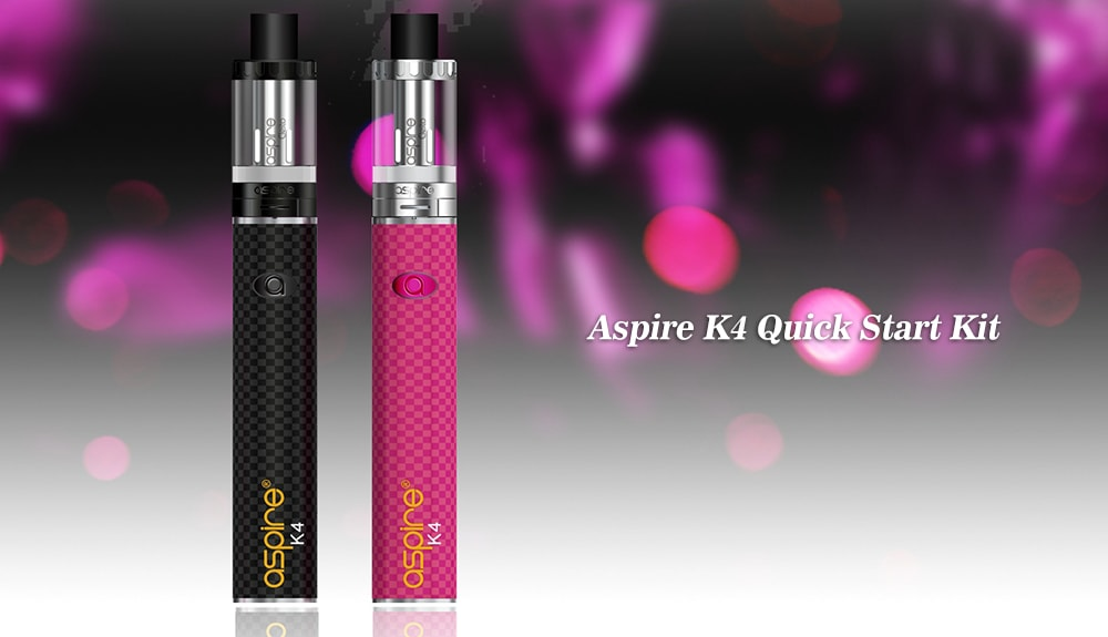 Aspire K4 Quick Start Kit with 2000mAh / One Button Design / 3.5ml Clearomizer for E Cigarette- Black