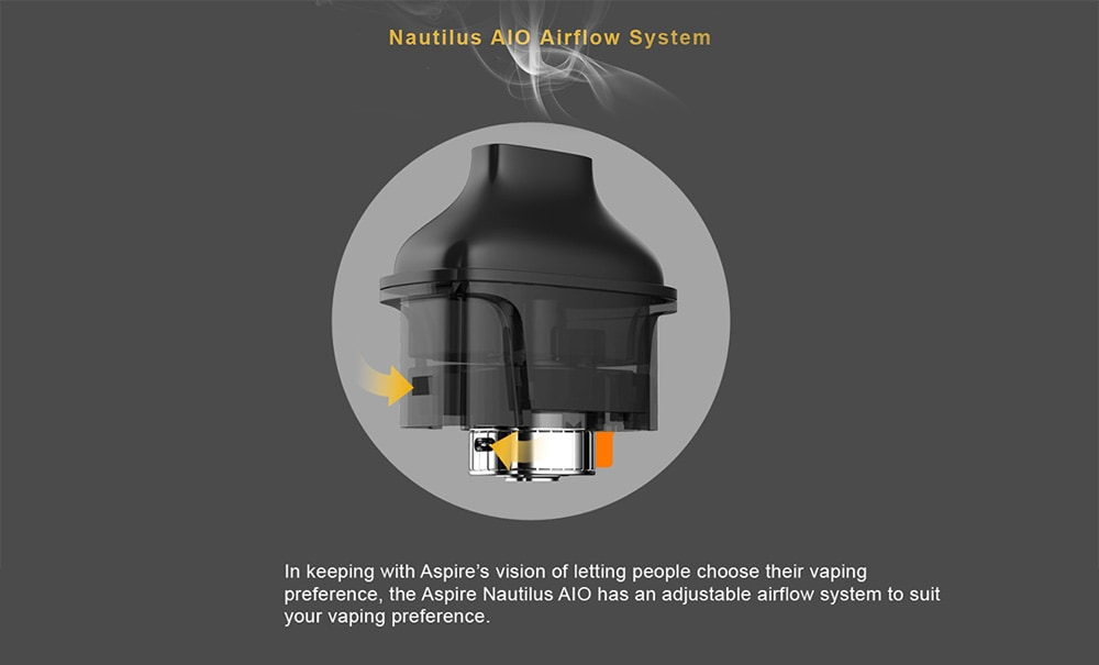 Aspire Nautilus AIO Pod with 2ml Capacity for E Cigarette- Black