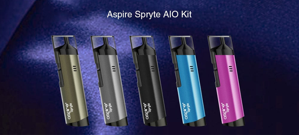 Aspire Spryte AIO 3.5ml Kit with Built-in 650mAh Li-ion Battery- Black