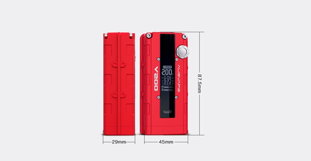 AUGVAPE V200 MOD 200W VW BY / PASS Mod with 0.05 - 3 ohm for E Cigarette- Black