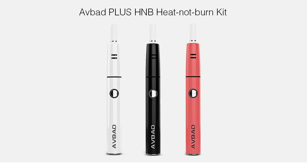 Avbad PLUS HNB Heat-not-burn Kit with Built-in 850mAh Li-ion Battery- Fire Engine Red