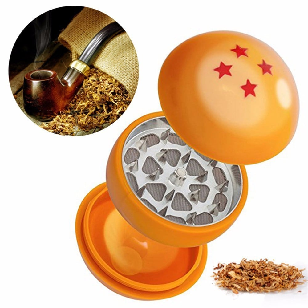 Creative  Four Stars Ball 3 Layers Herb Grinder Weed Cigarette Tobacco Grinder- Multi-A