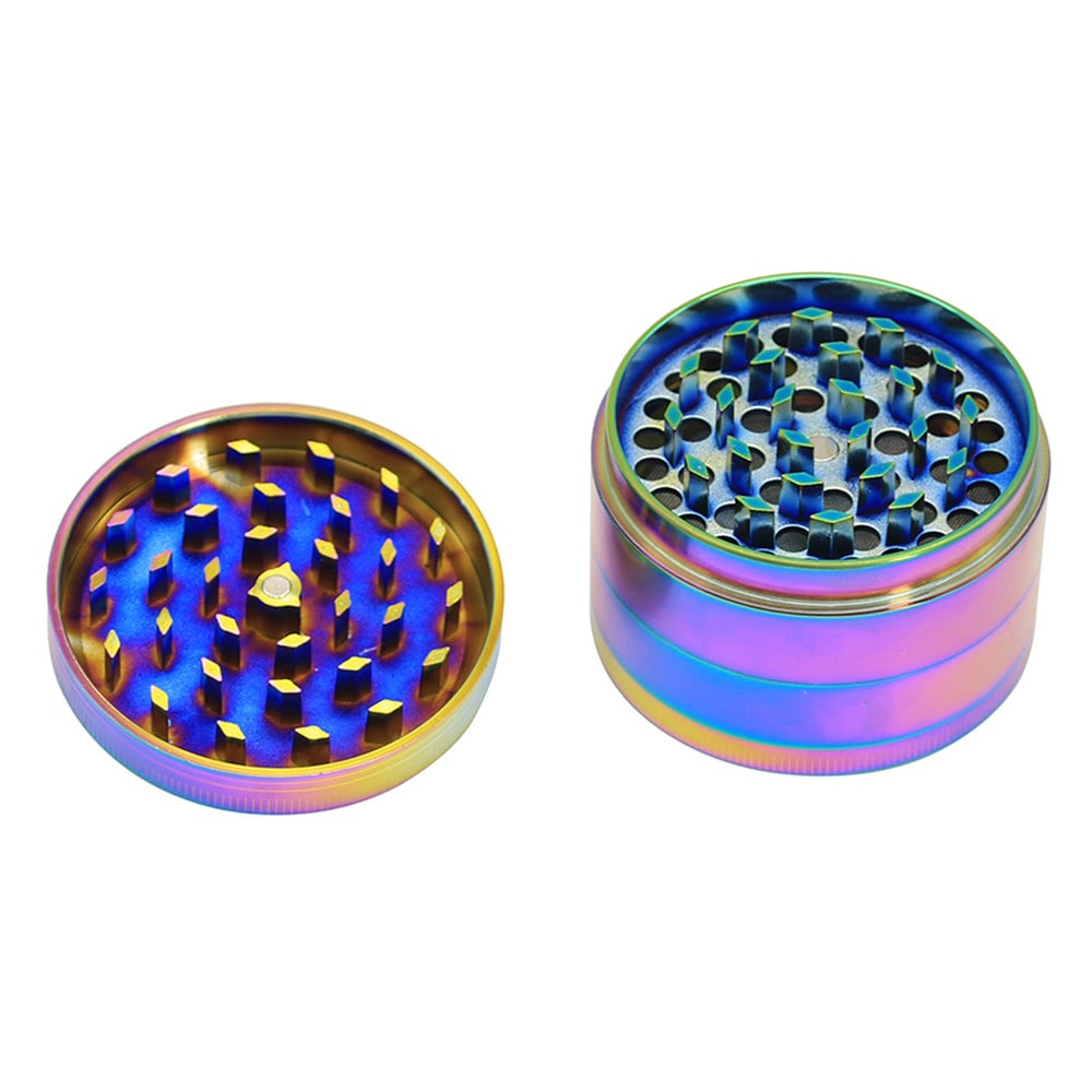 Creative Rainbow Diamond  Zinc Alloy Herb Grinder 63MM  Mini Tobacco Grinder- Multi-C