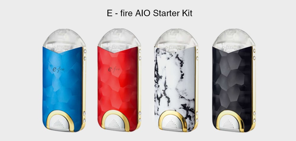 E - fire AIO Starter Kit with Built-in 500mAh Li-ion Battery- White