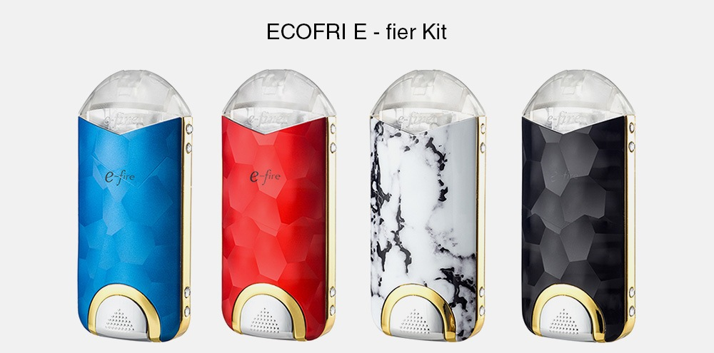 ECOFRI E - fier Kit with Built-in 500mAh Li-ion Battery- Deep Sky Blue