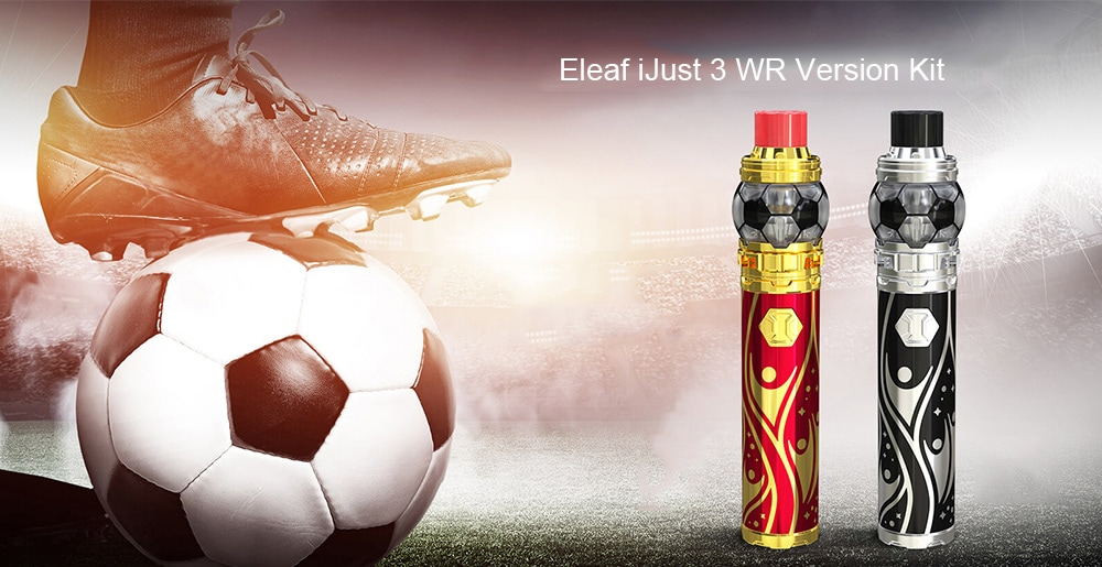 Eleaf iJust 3 WR Version Kit with Built-in 3000mAh Li-ion Battery for E Cigarette- Lava Red