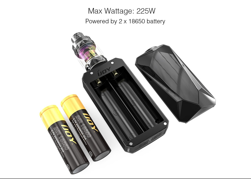 IJOY Diamond Kit with 4ml Capacity for E Cigarette- Black