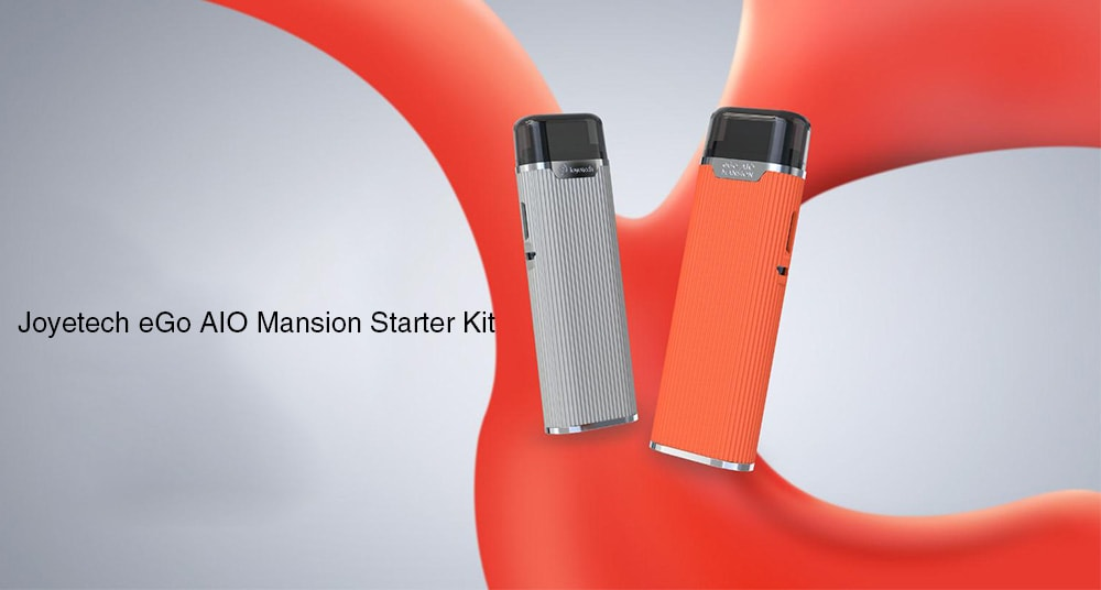 Joyetech eGo AIO Mansion Starter Kit with Built-in 1300mAh Li-ion Battery- Silver