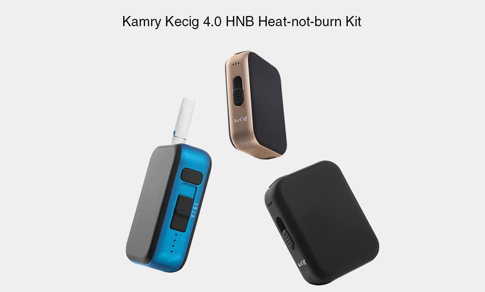 Kamry Kecig 4.0 HNB Heat-not-burn Kit with Built-in 650mAh Li-ion Battery- Blanched Almond