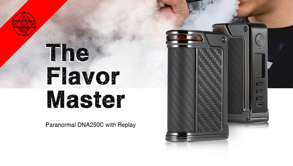 Lost Vape Paranormal DNA250C TC Box Mod with 200 - 600F / 1 - 200W for E Cigarette- Gray Dolphin