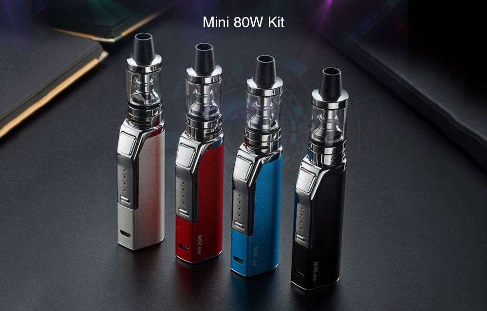 Mini 80W Kit with Built-in 1100mAh Li-ion Battery- Black