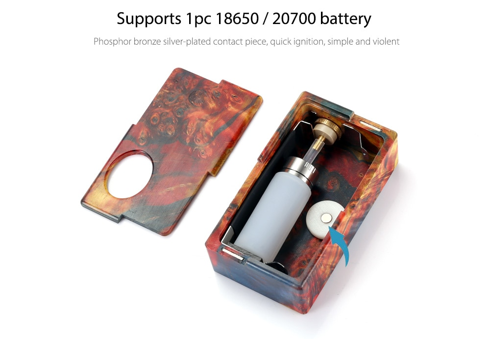 Original YiLoong Vape Stablized Wood Sqonker Mod with 13ml / Supporting 1pc 18650 / 20700 Battery for E Cigarette  - Colormix