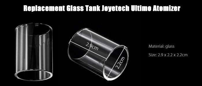 Replacement Glass Tank for Joyetech Ultimo Atomizer / E Cigarette Accessory- Transparent