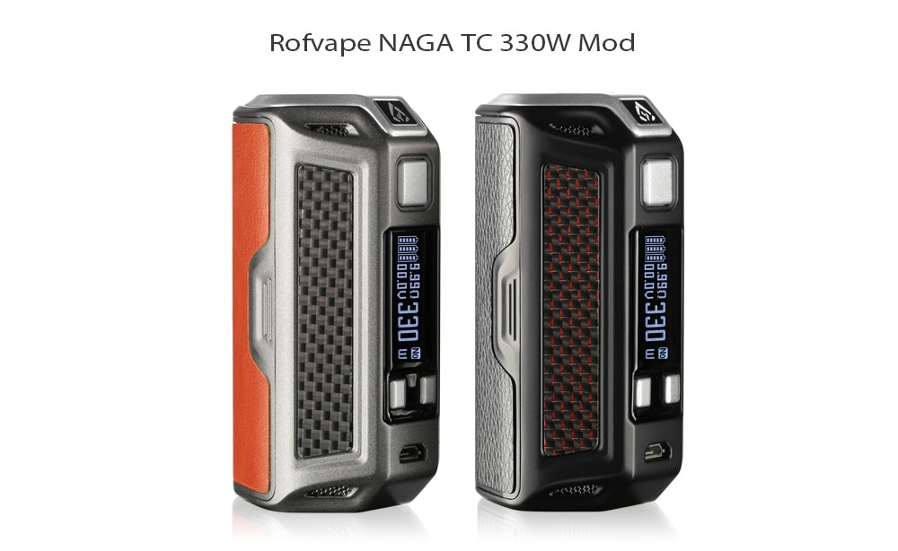 Rofvape NAGA TC Mod 330W with 100 - 315C / 200 - 600F for E Cigarette - Red Brown