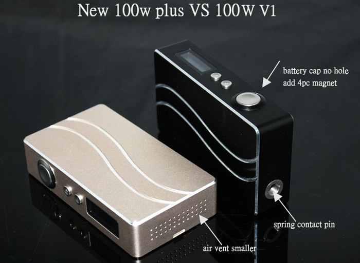 Sigelei 10 - 100W Plus Mod Variable Wattage for Electronic Cigarette with OLED Display by 2 x 18650 Battery- Golden