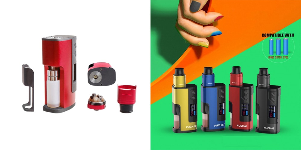 Sigelei Fuchai Squonk 213 150W VW Kit with 0.1 - 3.0 ohm / Supporting 1pc 18650 / 20700 / 21700 Battery for E Cigarette- Black