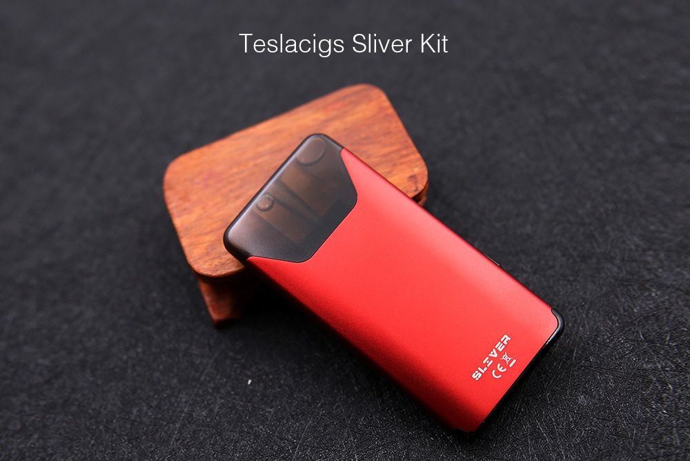 Teslacigs Sliver Kit with Built-in 350mAh Li-ion Battery for E Cigarette- Black