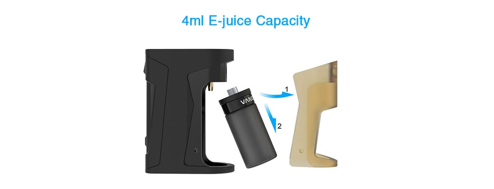 Vandy Vape Simple EX Squonk Kit with Built-in 850mAh Li-ion Battery for E Cigarette- Black