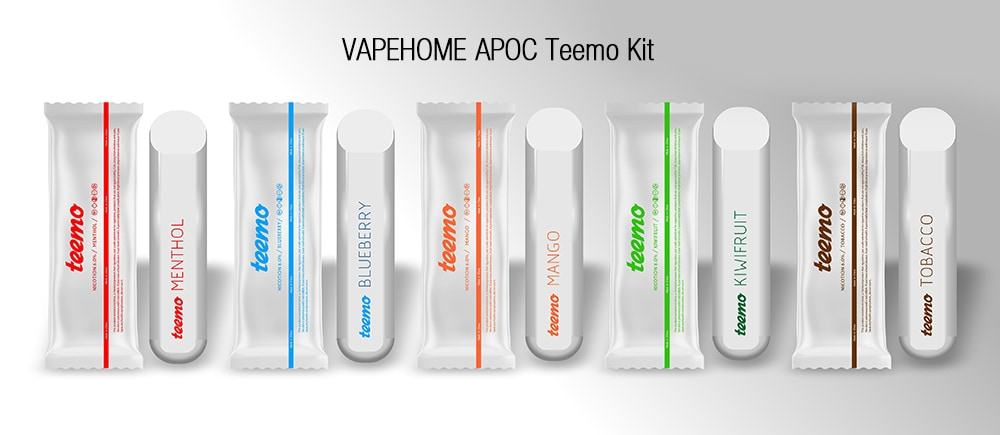 VAPEHOME APOC Teemo Disposable Pods Vapor Kit with Built-in 240mAh Li-ion Battery 3pcs- Watermelon Pink MENTHOL