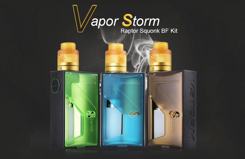 Vapor Storm Raptor Squonk BF Kit with 120W / 0.05 - 3 ohm for E Cigarette- Green