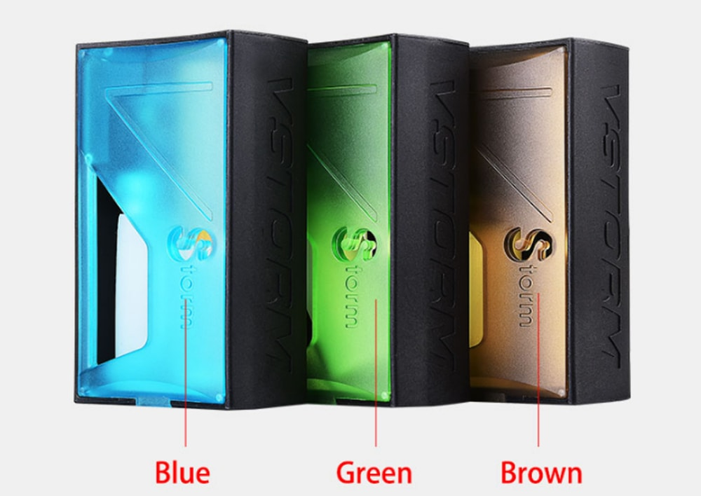 Vapor Storm Raptor Squonk Box Mod with 0.05 - 3 ohm / Supporting 1pc 18650 / 21700 / 20700 Battery for E Cigarette- Brown