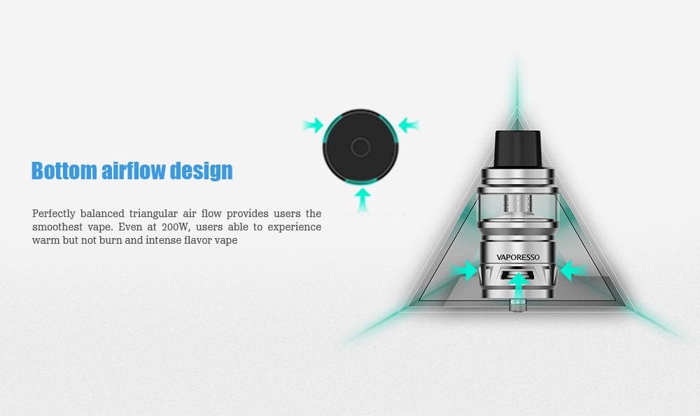 Vaporesso Cascade Sub Ohm Tank with 7ml / 0.15 ohm for E Cigarette- Blue