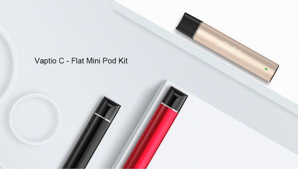 Vaptio C - Flat Mini Pod Kit with Built-in 260mAh Li-ion Battery for E Cigarette- Antique White