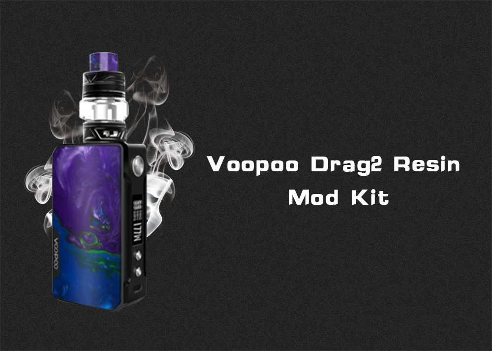 Voopoo Drag2 Resin Version Mod Kit Supporting 2pcs 18650 Batteries- Purple