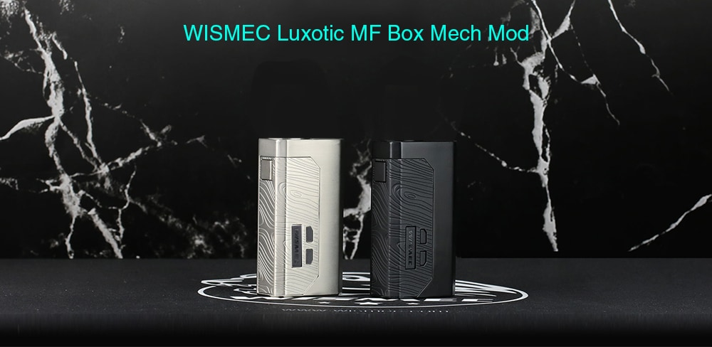 WISMEC Luxotic MF Box Mech Mod without Screen for E Cigarette- Black