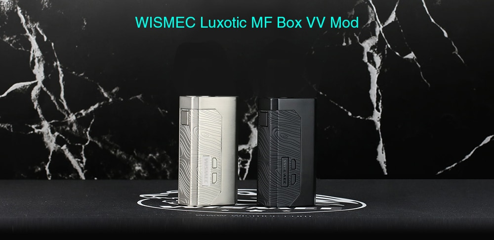 WISMEC Luxotic MF Box VV Mod with Clear Screen- Silver